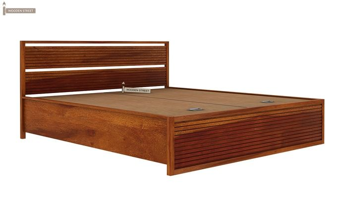Costas Hydraulic Bed (King Size, Honey Finish)-8