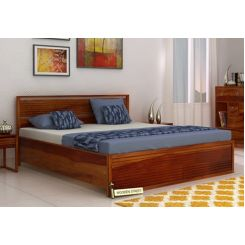Costas Hydraulic Bed (King Size, Honey Finish)