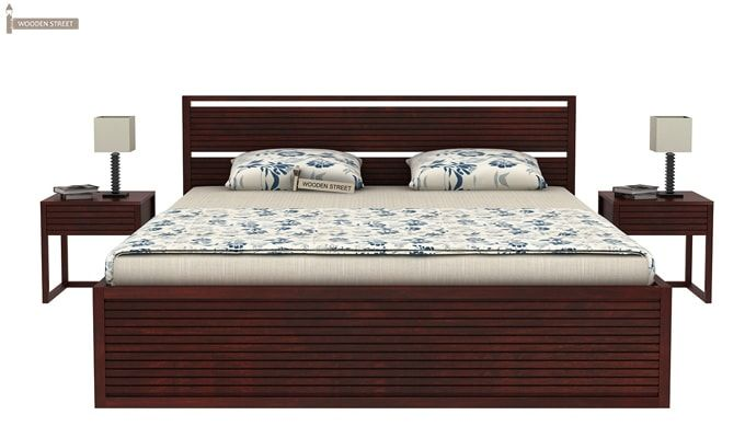 Costas Hydraulic Bed (Queen Size, Mahogany Finish)-2