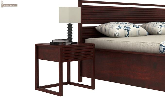 Costas Hydraulic Bed (King Size, Mahogany Finish)-3