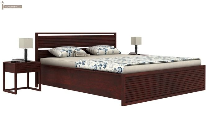 Costas Hydraulic Bed (Queen Size, Mahogany Finish)-1