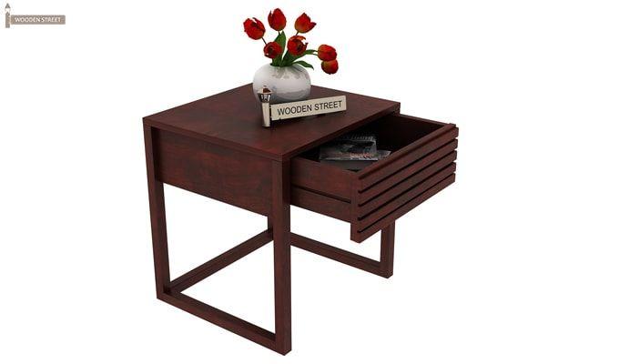 Costas Bedside Table (Mahogany Finish)-4