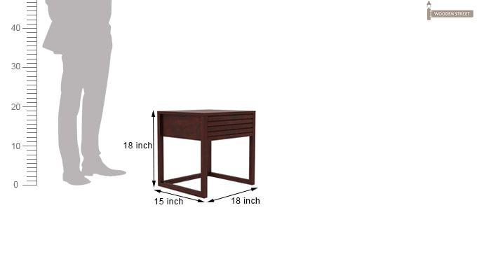 Costas Bedside Table (Mahogany Finish)-5