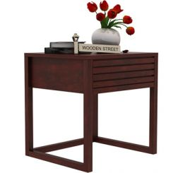 Costas Bedside Table (Mahogany Finish)