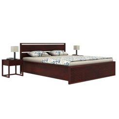 Costas Hydraulic Bed (King Size, Mahogany Finish)
