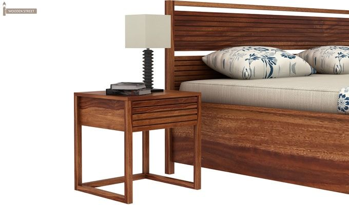 Costas Hydraulic Bed (King Size, Teak Finish)-3