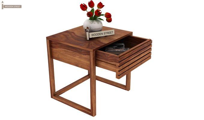 Costas Bedside Table (Teak Finish)-1