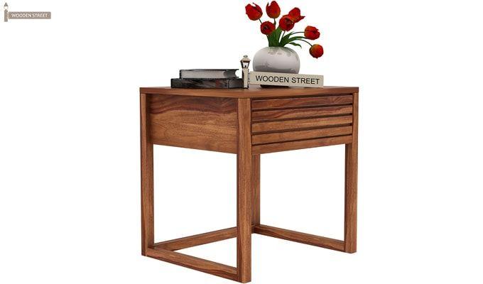 Costas Bedside Table (Teak Finish)-3