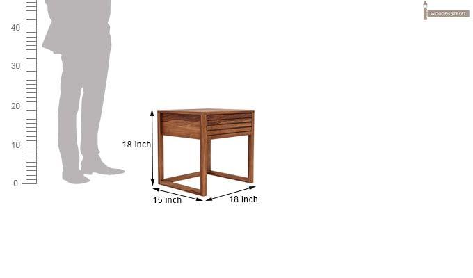 Costas Bedside Table (Teak Finish)-5