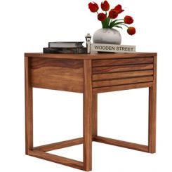 Costas Bedside Table (Teak Finish)