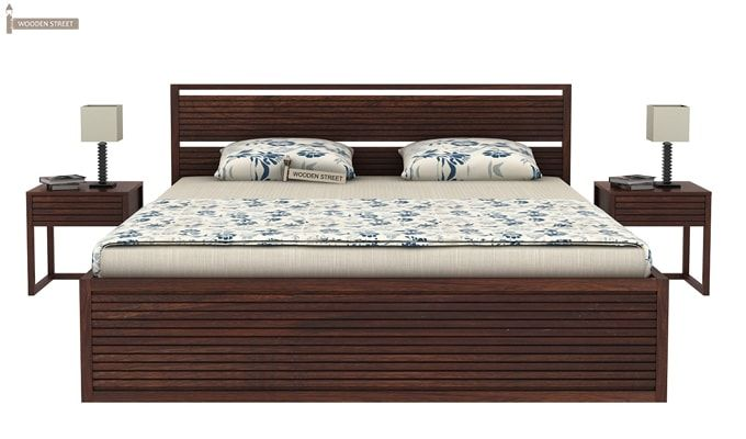 Costas Hydraulic Bed (King Size, Walnut Finish)-2