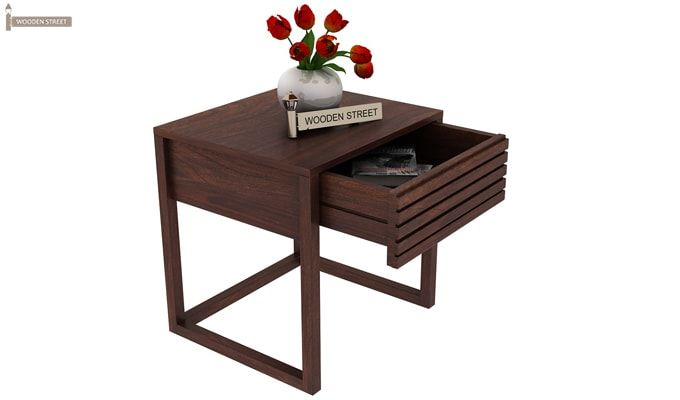 Costas Bedside Table (Walnut Finish)-1