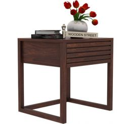 Costas Bedside Table (Walnut Finish)