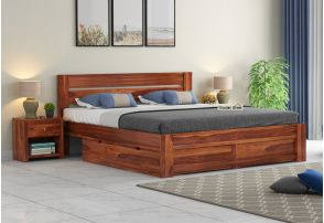 Wooden Double Bed Buy Double Bed Online Upto 55 Off
