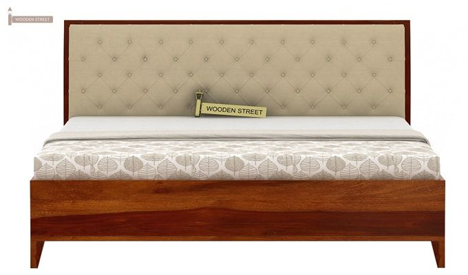 Dorian Bed With Storage (King Size, Honey Finish)-6