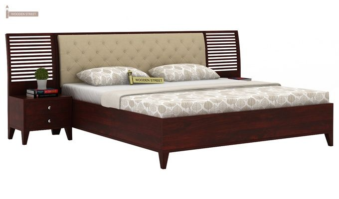 Dorian Bed With Storage (King Size, Mahogany Finish)-2