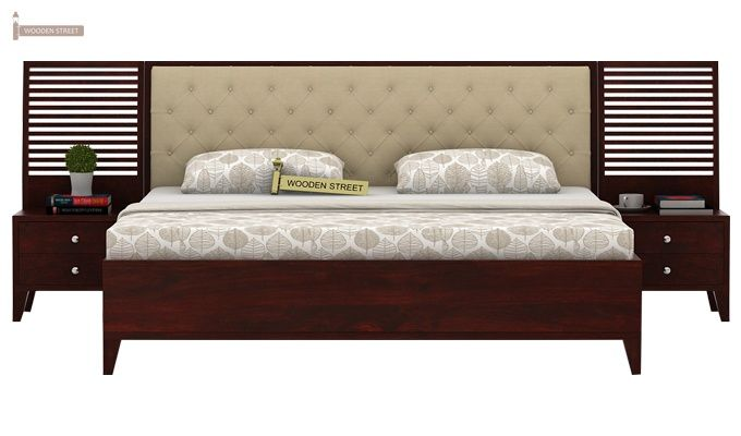 Dorian Bed With Storage (King Size, Mahogany Finish)-3