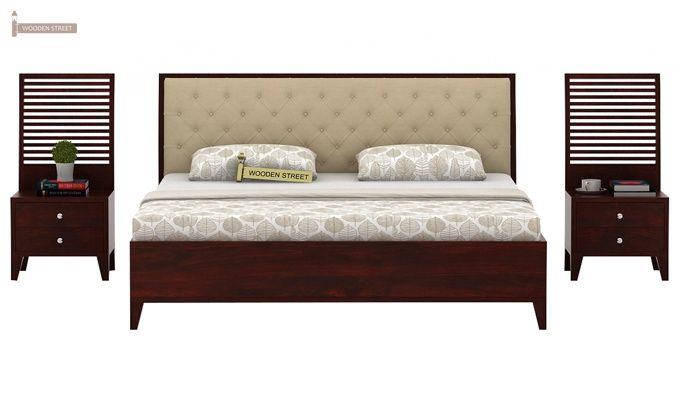 Dorian Bed With Storage (King Size, Mahogany Finish)-4