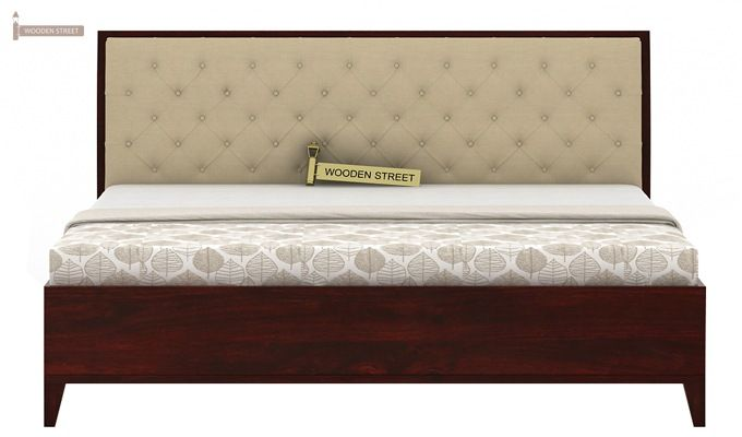 Dorian Bed With Storage (King Size, Mahogany Finish)-6