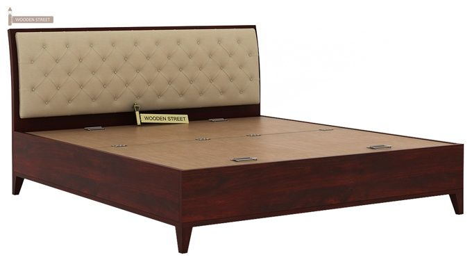 Dorian Bed With Storage (King Size, Mahogany Finish)-7