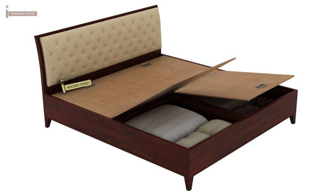 Dorian Bed With Storage (King Size, Mahogany Finish)-9