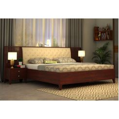 Dorian Bed With Storage (King Size, Mahogany Finish)