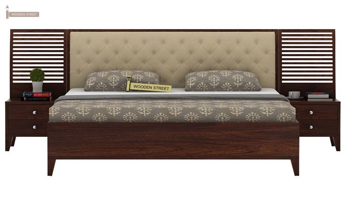 Dorian Bed With Storage (King Size, Walnut Finish)-2