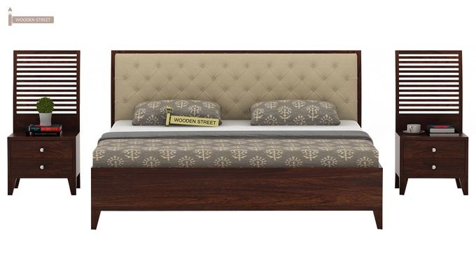 Dorian Bed With Storage (King Size, Walnut Finish)-3