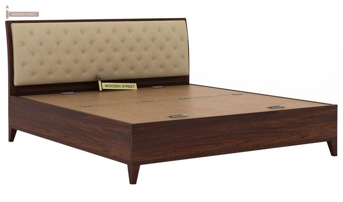 Dorian Bed With Storage (King Size, Walnut Finish)-6