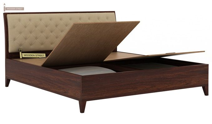 Dorian Bed With Storage (King Size, Walnut Finish)-7