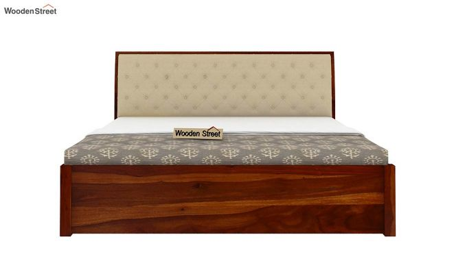 Persia Bed With Side Storage (King Size, Honey Finish)-5