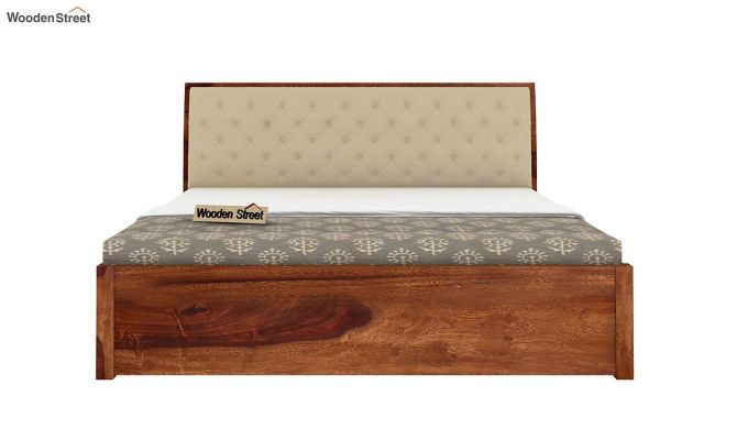 Persia Bed With Side Storage (Queen Size,Teak Finish)-6