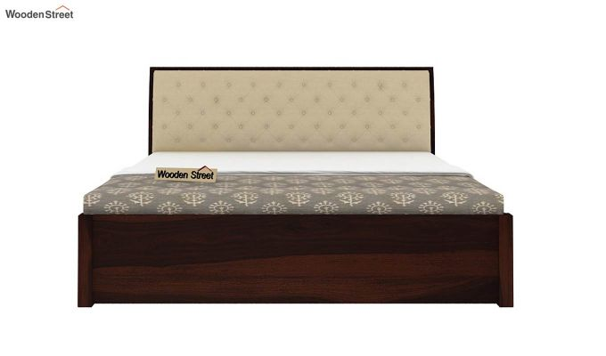 Persia Bed With Side Storage (King Size, Walnut Finish)-5