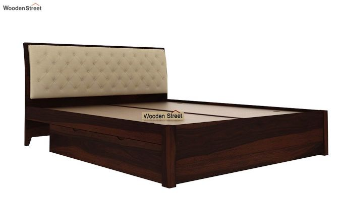 Persia Bed With Side Storage (King Size, Walnut Finish)-7