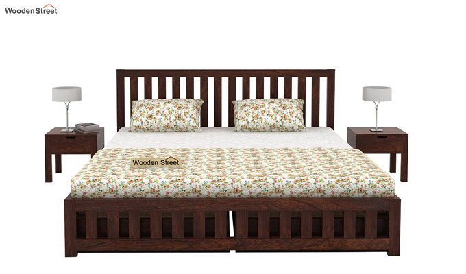 Douglas Bed With Storage (King Size, Walnut Finish)-4