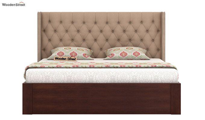 Drewno Upholstered Bed With Storage (King Size, Irish Cream)-3