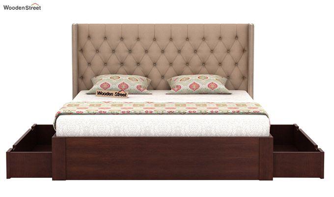 Drewno Upholstered Bed With Storage (King Size, Irish Cream)-5