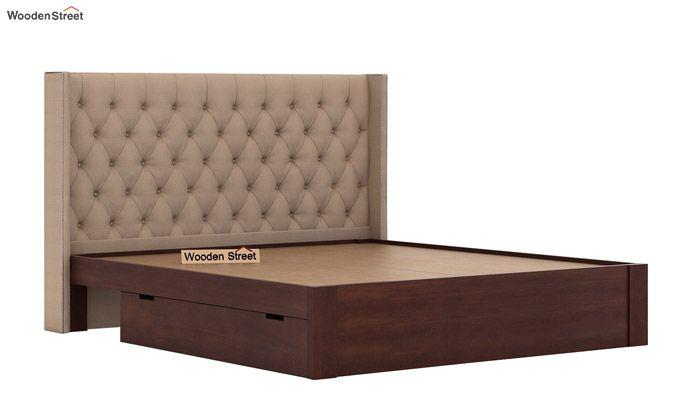 Drewno Upholstered Bed With Storage (King Size, Irish Cream)-7
