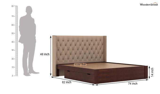 Drewno Upholstered Bed With Storage (King Size, Irish Cream)-8