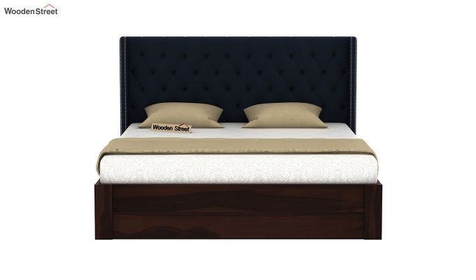Drewno Upholstered Bed With Storage (Queen Size, Indigo Ink)-3