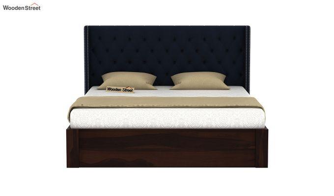 Drewno Upholstered Bed With Storage (King Size, Indigo Ink)-3