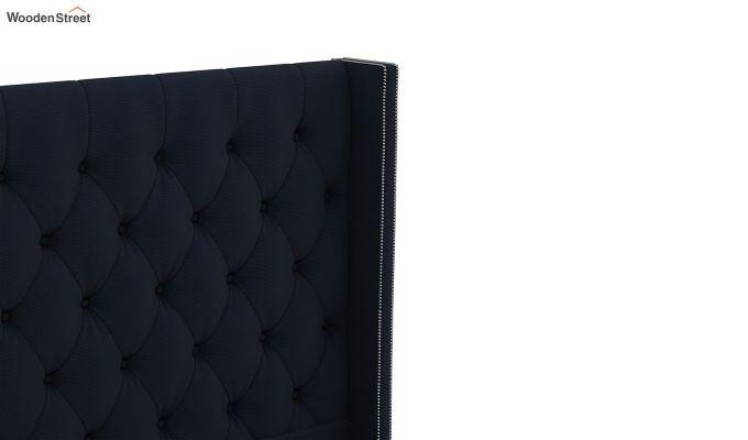 Drewno Upholstered Bed With Storage (King Size, Indigo Ink)-7