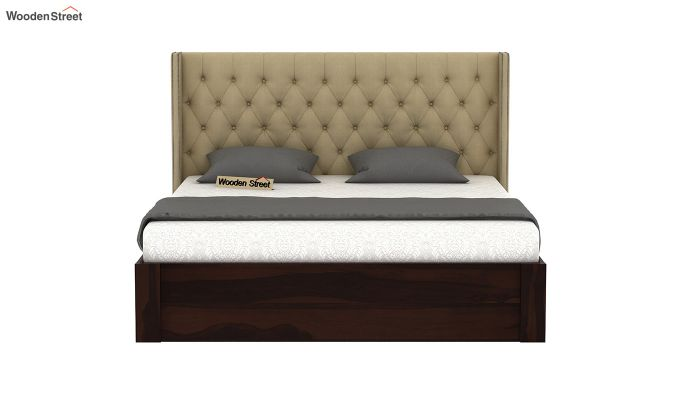 Drewno Upholstered Bed With Storage (Queen Size, Irish Cream)-3
