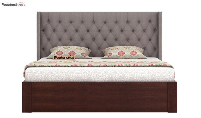 Drewno Upholstered Bed With Storage (King Size, Warm Grey)-3