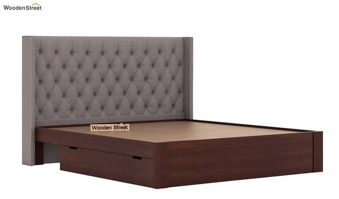 Drewno Upholstered Bed With Storage (King Size, Warm Grey)-7