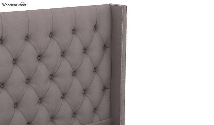 Drewno Upholstered Bed With Storage (King Size, Warm Grey)-6