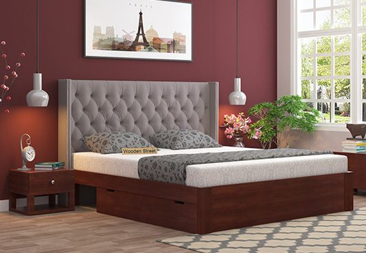 Fabric Upholstered Bed India
