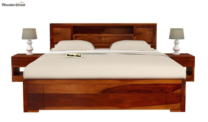 Ferguson Bed With Storage (King Size, Honey Finish)-3
