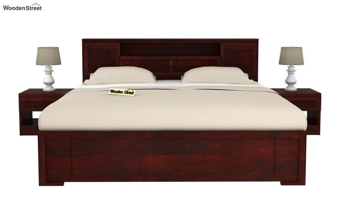 Ferguson Bed With Storage (King Size, Mahogany Finish)-3