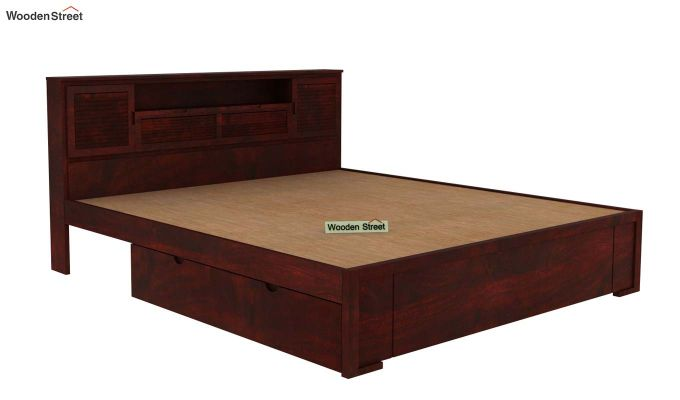 Ferguson Bed With Storage (King Size, Mahogany Finish)-5